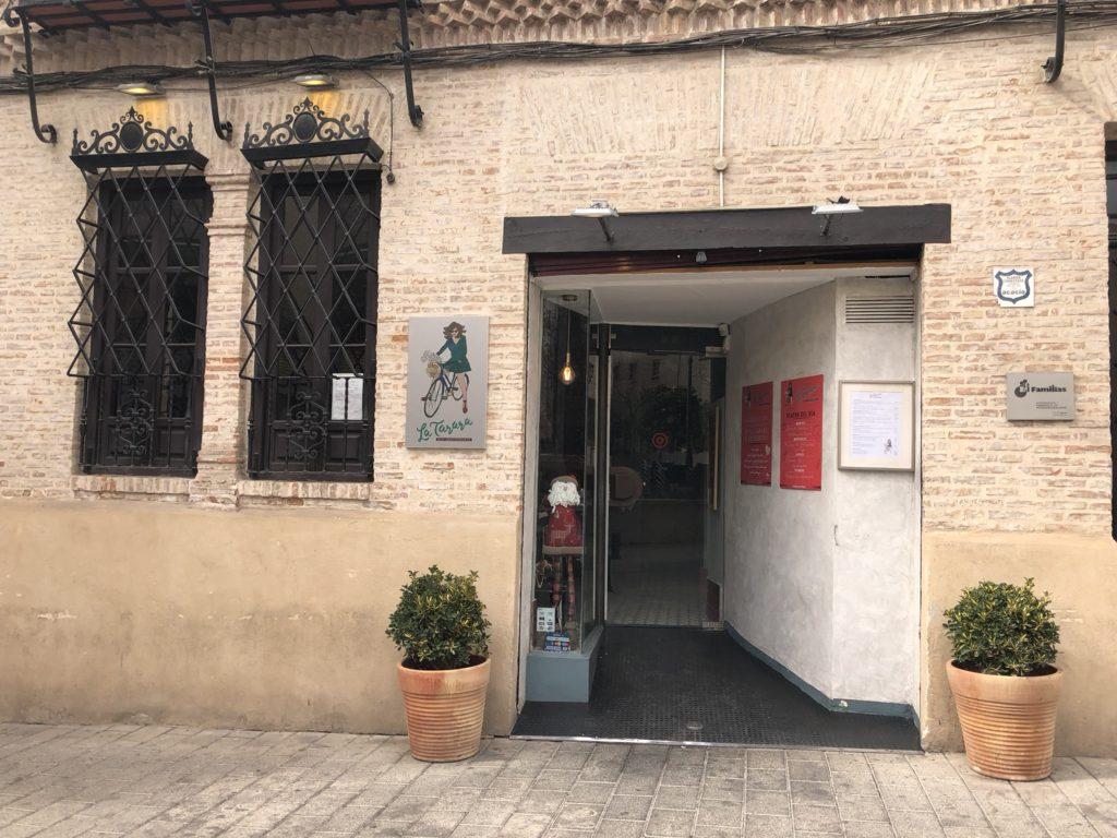 front of La Tarara Tapas Bar