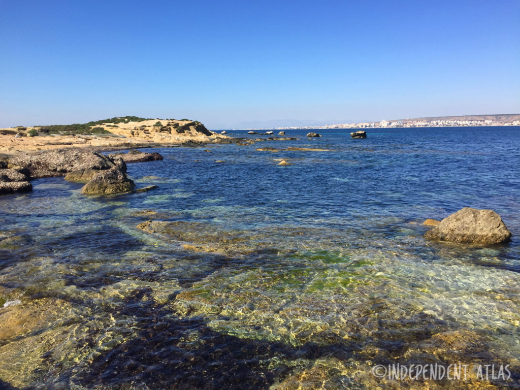blue waters of the island of tabarca