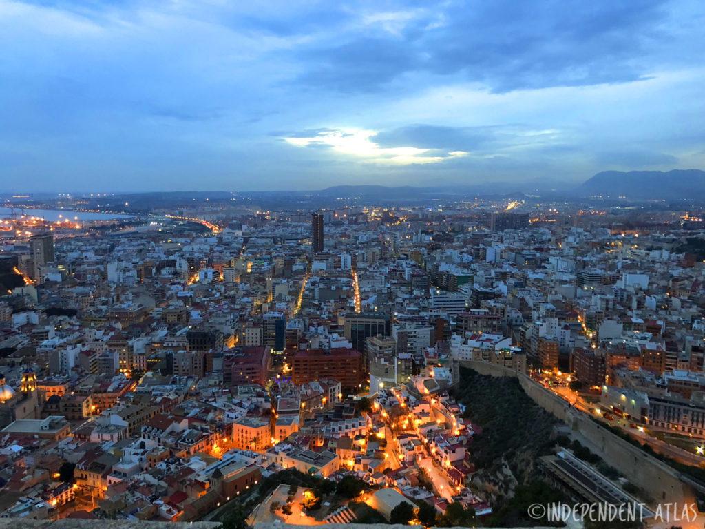24 hours in alicante, a day in alicante,view over alicante from santa barbara castle