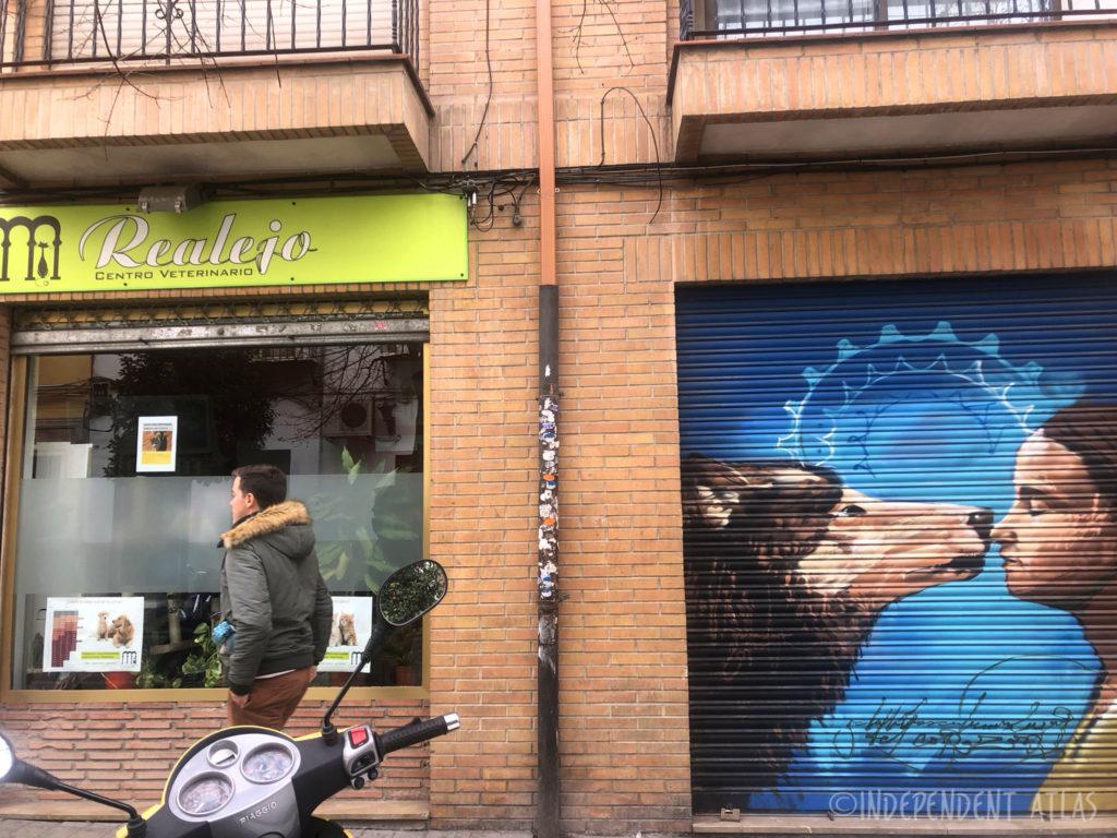 Street art and graffiti tour of granada, spain, dog wolf, el nino