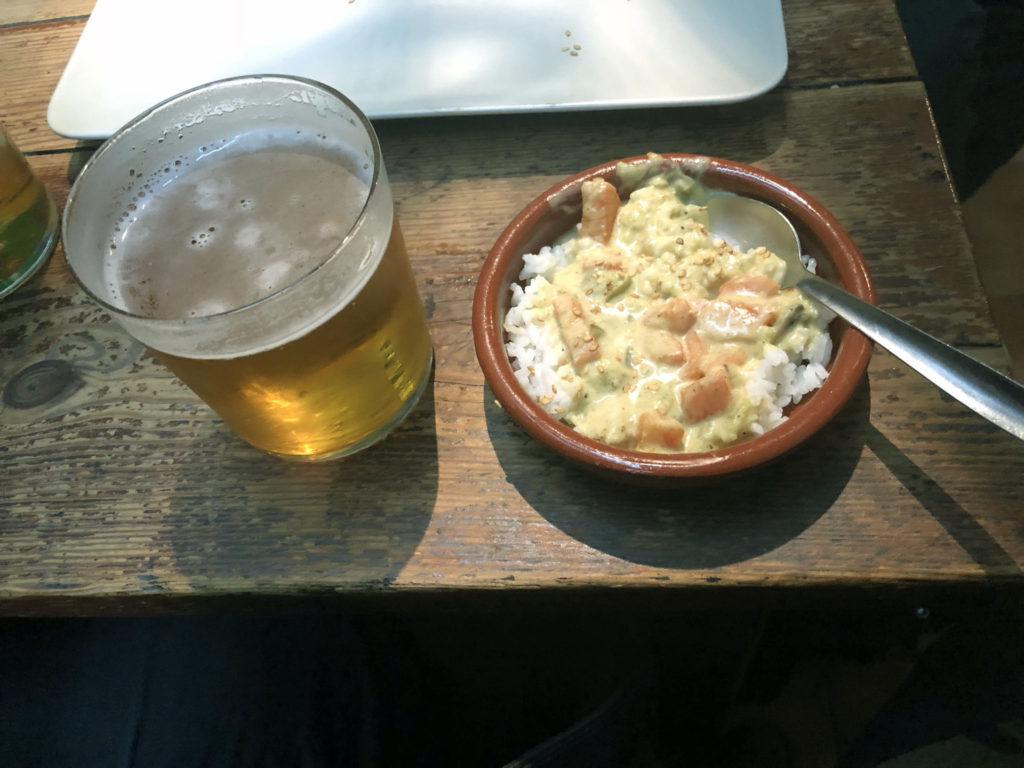 La Taberna, Granada, tapas bar, thai green curry, Veggie, Vegan, best tapas bars in Granada