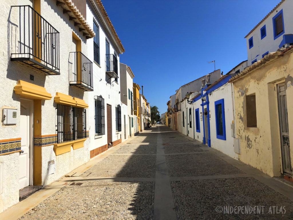 cobbled street on the island of Tabarca