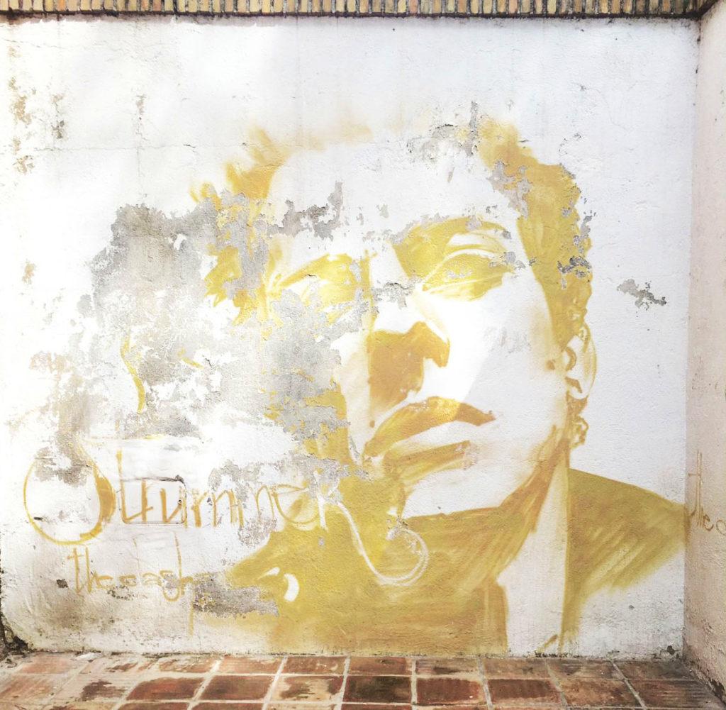 Street art and graffiti tour of granada, spain, joe strumer from the clash, el nino
