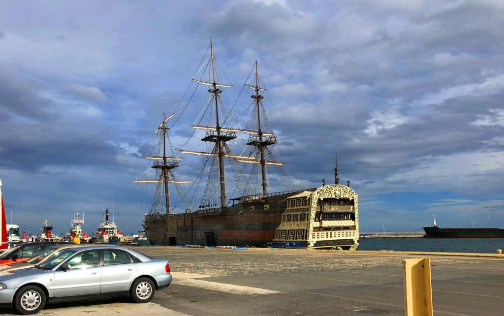 24 hours in alicante, a day in alicante, pirate ship, spanish galleon