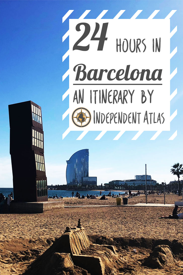 How to spend a day in Barcelona, 24 hours in Barcelona Pinterest Pin
