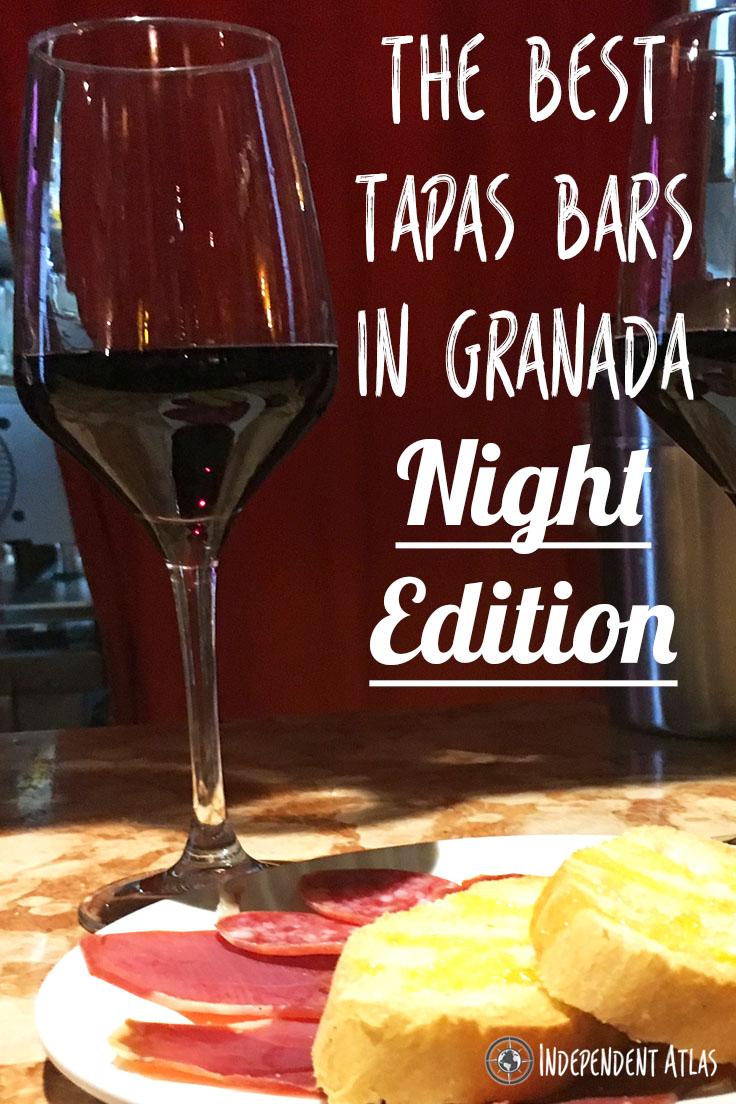 Best tapas bars in Granada Night Edition Pinterest Pin