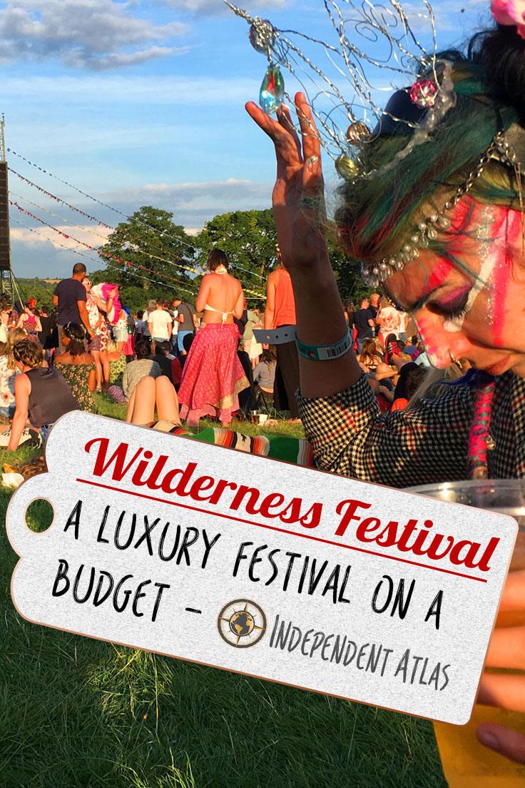Wilderness Festival on a budget Pinterest Pin