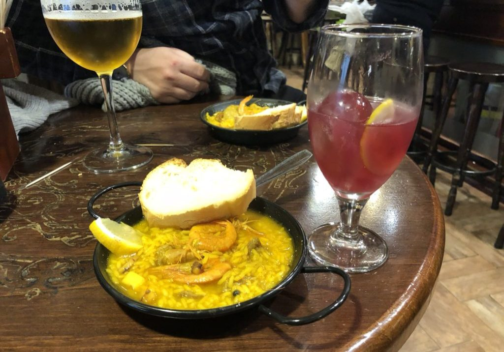 Paella, seafood, de marisco, Granada, Tapas Bar, Cristobel best tapas bars in granada