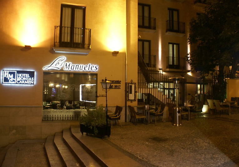 Outside Los Manueles Tapas Bar Granada, best tapas bars in Granada